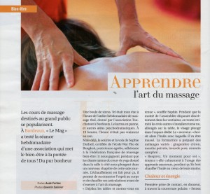 Revue de presse Le Mag Sud-Ouest 8 décembre 2012 (1)